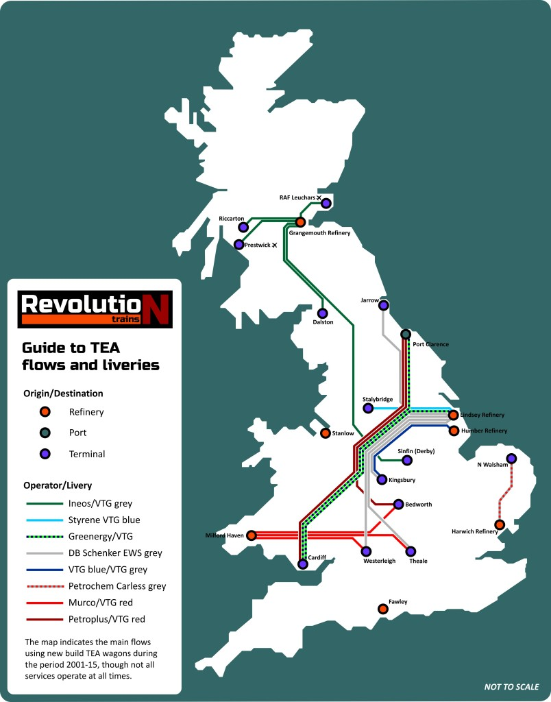TEA route map