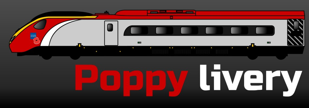 Pendolino - livery button - poppy