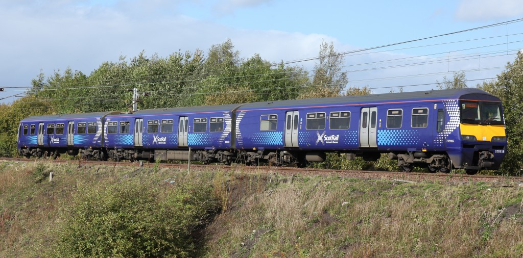Class 320 in Scotrail Saltire livery by Tom Smith