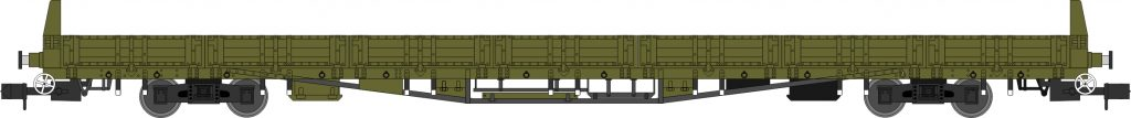 Sturgeon A, Engineers Olive Green with side doors, single and triple pack. Era 6, 7, 8
