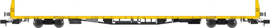 YBP Sturgeon, departmental yellow with no doors and removable ends, single pack. Era 7, 8, 9