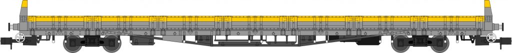 "YPA Tench, departmental Civil Engineers ""Dutch"" grey/yellow with side doors, single and triple pack. Era 7, 8, 9"