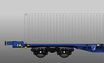 PFA/KFA container flat wagon