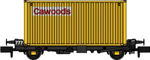 PFA 4 wheel container flats