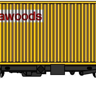 PFA 4 wheel container flats